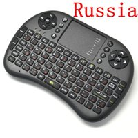 Atacado-UKB500 sem fio de jogo Teclado russo mini-fly Air Mouse Touchpad Keyboard para TV BOX PC Laptop Tablet PC Mini