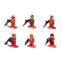 Wholesale Diy Blocks Police - New police anti-terrorist commando Building Blocks 6 Styles 2015 police anti-terrorist commando DIY Bricks Toys B001