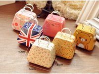Wholesale Mini Handbag Tin - New Handbag bag mini storage small box coin box jewlery earring box candy box tin box wedding favor