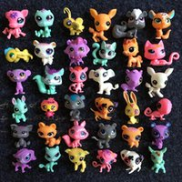 Q LPS-Littlest Shop Série Pet Poupée 20 pcs / lot Aléatoire Littlest Pet Shop Animaux de Bande Dessinée Chat Chien Figurines Collection Jouets Gratuit DHL