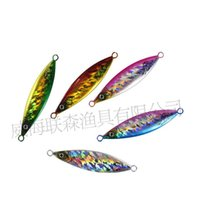 Wholesale jigs for fishing - Hot Sale 6PCS Slow Jigging Lure Laser Lead Fish Lure 20g-200g Metal Jig Baits or Fishing Flutter Jig for Saltwater