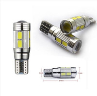Wholesale Canbus Error Free - 10PCS T10 501 CANBUS 6 10SMD W5W CAR SIDE LIGHT BULBS ERROR FREE LED XENON HID WHITE wholesale