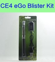 Wholesale Ego Started Kit - eGo Starter Kit CE4 Blister pack kit 1.6ml atomizer 650mah 900mah 1100mah ego battery electronic cigarettes start green kit