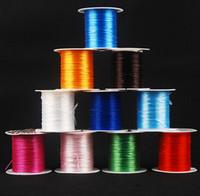 ingrosso corda elastica diy-Cavo della stringa gioielli 10M cavo di nylon elastica perline Cavo stringa filetto elastico per monili che bordano DIY che fanno Funi - 0017KLF