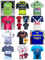 Wholesale Red Wine Rabbit - 2017 18 Waratahs RAIDER Munster Eels bulls South Sydney rabbit Thunder 6 ers Oakland Paris Jaguares bulldogs Leinster Ospreys rugby jersey