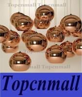 Wholesale Tom Dixon Copper Light Shades - Tom Dixon Copper Shade Mirror Ball Ceiling Light Pendant Lamp Lighting 40cm