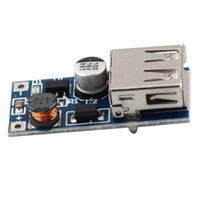 Wholesale Usb Powered Dvd - 1Pc 0.9V-5V to 5V DC-DC Booster Module USB Mobile Step-up Power Supply Module Newest