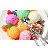 Wholesale Steel Ice Cream Scoop Spoon - Stainless Steel Ice Cream Scoop Spoon Melon Baller with Deep 6CM Length 23CM(4 Tablespoon)