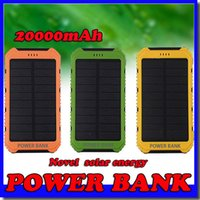 Wholesale waterproof portable charger for sale – best 20000mAh Novel solar Power Bank Ultra thin Waterproof Solar Power Banks A Output Cell Phone Portable Charger Solar Powerbank