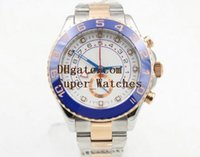 Wholesale Master Ceramics - Super Original Box Papers Sapphire Wristwatches Yacht AAA Master 44mm Cerachrom WHITE Dial 116681 116681WT Automatic Movement Watch Watches
