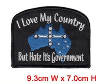 Wholesale Professional Embroidery Machines - Australia's special mark professional computer embroidery patch promotion free shipping hot cut Iron on garment & bag accept customised