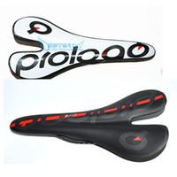 Wholesale Carbon Bicycle Fiber Seats - Prologo full carbon fiber road bike saddle cycling mtb bicycle parts seat saddle cushion 272*128 mm
