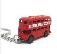 Wholesale London Keychain - free shipping & wholesale 12pcs lot i love London souvenirs key chain 2014 new London bus keychain 3d car key ring