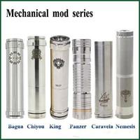 Wholesale Bagua Mechanical Mod - Bagua Chiyou King Panzer Caravela Nemesis full Mechanical mods fit E Cigarettes 18650 battery clone vs Manhattan AR hades support mix order