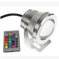 led projektörler sıcak beyaz toptan satış-10 W 12 V Led Projektör Sıcak Soğuk Beyaz RGB Açık Led Sualtı Işıkları Su Geçirmez IP68 Bahçe Işıkları
