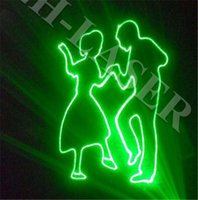 Wholesale Disco Dance Light Projector - 1W Green Laser Animation projector dmx ILDA lighting light Party Bar Club DJ Disco Dance KTV Stage Light show
