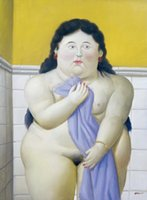 Wholesale Botero Hand Painted - Gift,Oil Painting Donna nel bagno Art by Fernando Botero,hand-painted,High qualilty
