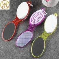 Wholesale calluses tools resale online - Four In One Feet Brush With Double Sided Massage Foot Brushes Scrubber Remove Calluses Pumice Stone Cleaning Tools st B