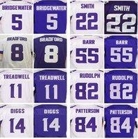 Wholesale Vikings Football - Men's Top Minnesota 8 Sam Bradford 14 Stefon Diggs 55 Anthony Barr 22 HARRISON SMITH 5 Teddy Bridgewater 11 TREADWELL elite Viking Jerseys