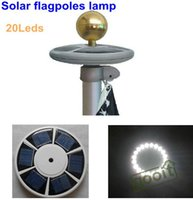 Wholesale Flag Pole Light Led - High brightness 20 LED Solar Powered flag pole light solar outdoor Garden Umbrella Landscape LED spot light, dandys