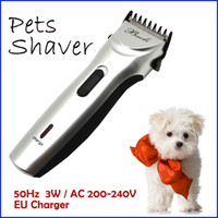 Wholesale Pet Blades - Professional High Quality 3W Rechargeable Electric Pet Dog Hair Clipper Trimmer Shaver for Pets Grooming Product