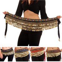 Wholesale Tassel Waist Scarves - Hand made Beautiful Belt Belly Dance Dancing Waist Chain Hip Scarf Danse Du Ventre Costume 4 Colors