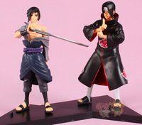 Wholesale action figure itachi - 2pcs set 16cm Anime Naruto Uchiha Sasuke + Uchiha itachi PVC Action Figures Collectible Model Toys