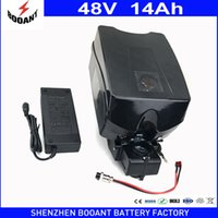 Wholesale Motor Bike Brands - BOOANT Brand EU US Duty Free 48v 14ah for Bafang Motor Powerfull 1000W E-Bike Electric Battery Frog 48v with 2A Charger 30A BMS
