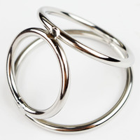 Wholesale beautiful toy sex resale online - Men Sex Delay Toy Triple Cock and Ball Ring Stainless Steel Smooth Beautiful Cock And Ball Ejaculation Delayer Rings