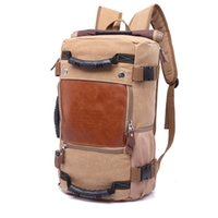 Wholesale Vintage Canvas Backpacks - Stylish Travel Large Capacity Backpack Male Luggage Shoulder Bag Computer Backpacking Men Functional Versatile Bags