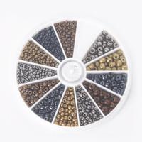 kit de jóias diy venda por atacado-Hot - 234mm Misturado Grânulos de Sementes de Vidro de Cores de Metal Kit Solto Spacer Beads Para Jóias DIY Fazendo aproximadamente 600 pçs / set, BDH063-01MX