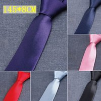 Wholesale fedex gift for sale - Group buy Men s Tie Colors cm NeckTie Occupational solid color Arrow tie for Father s Day Men s business tie Christmas Gift Free FedEx