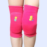 Atacado- Boutique Kids Cotton Sports Knee Pad 3-15Y Kids Boys Girls Knee Pad Dance Training Game