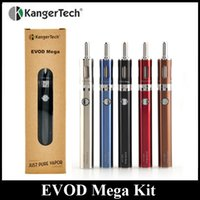 Wholesale Cheapest Evod Starter Kit - Original KangerTech EVOD MEGA Kit 1900mAh Kanger Cheapest Starter Kit Electronic Cigarette Vape Pen Kit 100% Original In Stock