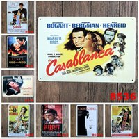 Wholesale Movie Tin Signs Wholesale - 2015 fashion 20*30cm classic vintage movie film poster tin sign Coffee Shop Bar Restaurant Wall Art decoration Bar Metal Paintings