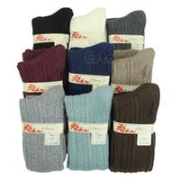 Wholesale White Slouch Socks - Wholesale-E74 Free Shipping Women Winter Warm High Knee Leg Warmers Knit Crochet Leggings Boot Socks Slouch