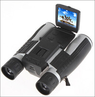Wholesale Binocular Digital Video Camera - Free shipping FS608 Full HD1080P Digital Binocular Camera for Tourism Outdoor Multi Function 4 in 1 Telescope Video Recorder DVR Camcorder