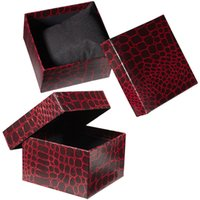 Wholesale High grade Watch Dedicated Gift Box Luxurious Imitation leather Watch Packing Boxes Colors