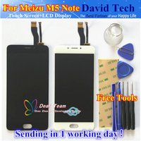 Wholesale Cellphones Lcd Replacement Screens - Wholesale- High Quality New LCD Display +Digitizer Touch Screen Glass Replacement Parts For Meizu M5 Note Cellphone 5.5inch Free Shipping