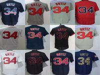 Wholesale Best David - Newest Boston Mens Womens #34 David Ortiz Jersey White Blue Red Grey Black Embroidery Baseball Jerseys Best Quality Cool Flex Base Jerseys
