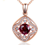 Wholesale Gold Guarantee - Wholesale Fine Jewelry Rose Gold Plated Silver Pendant 100% Guaranteed Solid 925 Sterling Silver Pendant With Cubic Zirconia yh4245