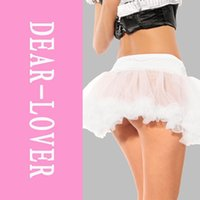 Wholesale Sexy White Tutu - Sexy White Tulle Petticoat Skirt LC7023 Costume Women Short Fluffy Tutu Skirt FG1511