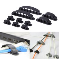 10pcs Cabo Winder Cord Wire Line Organizador Plastic Clips Ties Fixer Fastener Holder Preço por atacado Cable Winder