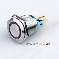 aydınlatılmış basma düğmesi toptan satış-Düğmesi Su geçirmez IP67 Led 12V 24V KAPALI AÇIK Mandallama 60pcs 22mm Metal anti-vandal Anlık Anahtarı ışıklı