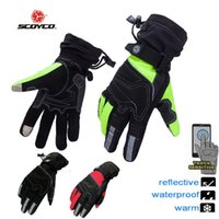 Wholesale Scoyco Gloves Waterproof - 2016 New SCOYCO waterproof knight Moto riding gloves motorcycle racing gloves MC30 of Oxford black green red M L XL XXL