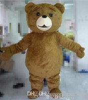 Wholesale Mascot Costumes For Sale - Factory direct sale Free shipping light and easy to wear adult brown plush teddy bear mascot costume for adult to wear