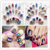 Wholesale Decals Foil Nail Art - Free Shipping 2014 New Hot Sells 10 Pcs Multicolored Galaxy DIY Nail Sticker Nail Art Foil Nail Art Decoration