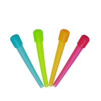 Wholesale hookah disposable plastic tips - Wholesale 50pcs Poly Bag Disposable 95MM Colorful FDA Plastic Mouth Tip Filters Fitting Shisha Hookah Mouth Tips