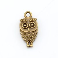 Quente! 300Pcs Antique Bronze Alloy Owl Charm Pendants 9 x 18.5mm DIY Jewelry