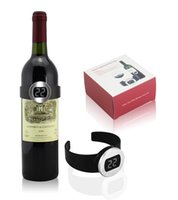 "Wholesale Wrist Watch Digital Lcd - Unique Wrist Watch Design Electronic Red Wine Bottle Temperature Meter Digital Thermometer 1.0"" lcd"